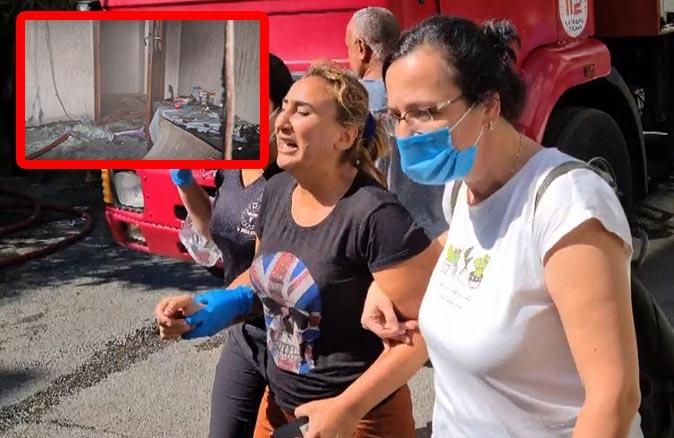 Antalya'da anne 4 çocuğunun bulunduğu evi ateşe verdi