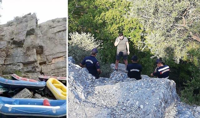 Rafting bölgesinde intihar teşebbüsü! 50 metreden atlamak istedi...