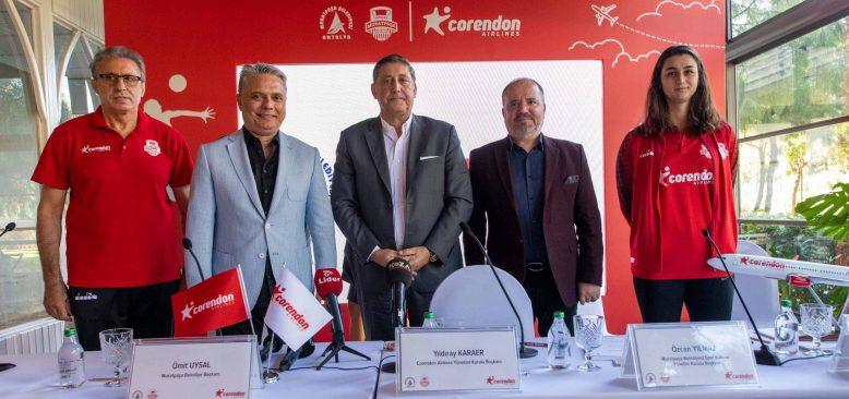 Corendon Airlines, Muratpaşa Belediyesi Kadın Voleybol Takımı'na sponsor oldu