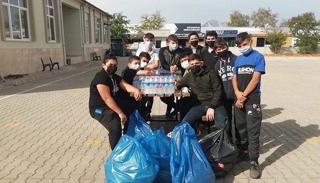 Çevre temizliği öğrencilerden, sular Berberler Odası'ndan