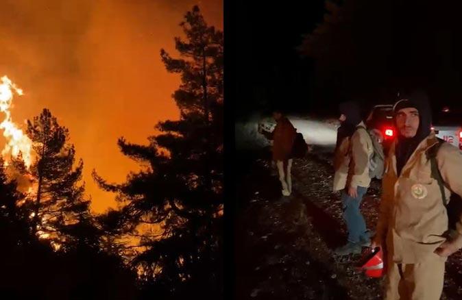 Antalya'da yangın felaketi! Alevler ekiplerin üzerine geldi