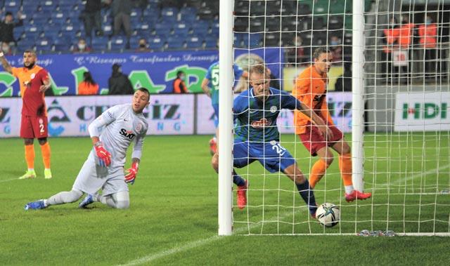 Son dakikada tarihi geri dönüş! Galatasaray, deplasmanda Çaykur Rizespor'u yendi