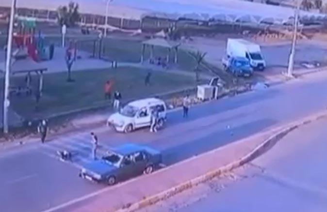 14 yaşındaki Cesur İstimihan'ın ölümüne sebep olduğu feci kaza güvenlik kamerasında