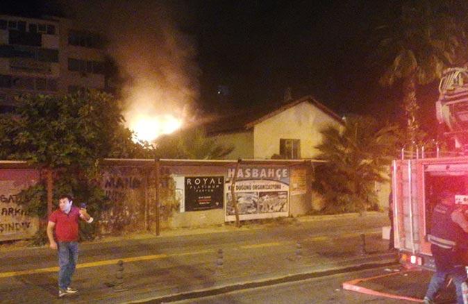 Manavgat tarım ilçe müdürlüğü eski binasında yangın çıktı