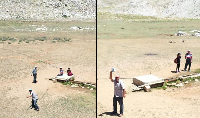 Antalyalı çobanın drone'la sınavı! Önce kovaladı sonra selamladı...