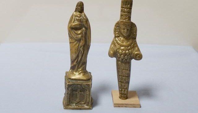 Meryem Ana ve Tanrıça Artemis'in altın heykeli Antalya'da ele geçirildi