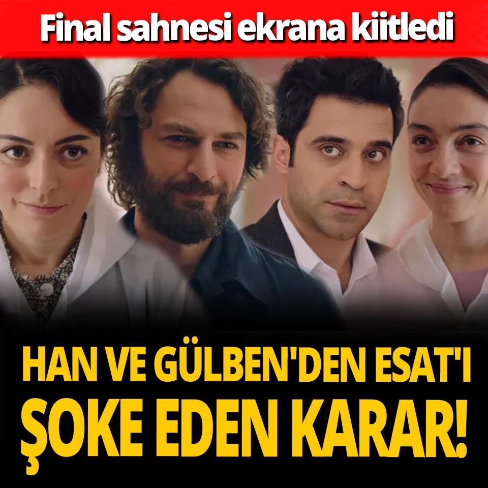 Masumlar Apartmanı 43. son bölüm final sahnesi! Han ve Gülben'den Esat'ı şoke eden karar!