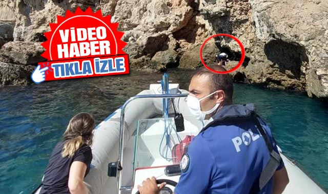 Antalya'da falezlerden düşen kadın yaralandı
