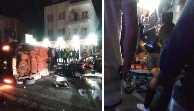 Kepez'de kaza! Ölüm karşı şeritten geldi!