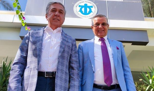 DTO Antalya Şube Başkanı Çetin, Başkan Topaloğlu'nu ağırladı