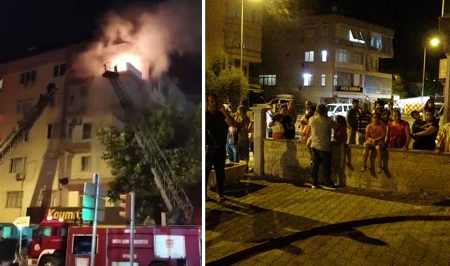 Antalya'da korkutan yangın! Mahalleli sokağa döküldü...