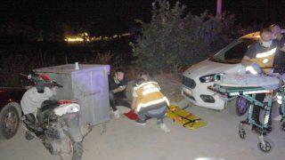 Üç kafadarın motosiklet yolculuğu hastanede son buldu