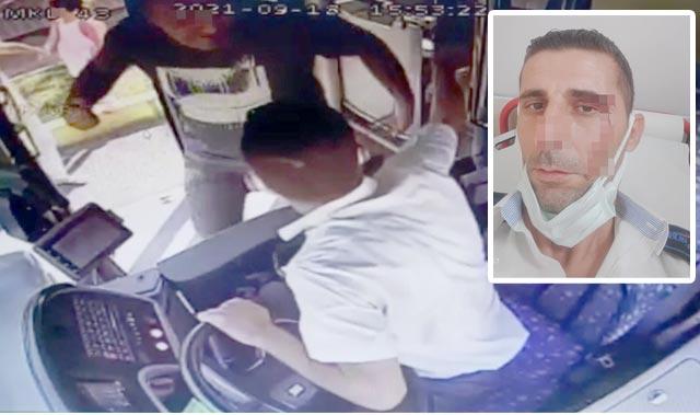 Antalya'da öfkeli yolcu otobüs şoförünü yumrukladı