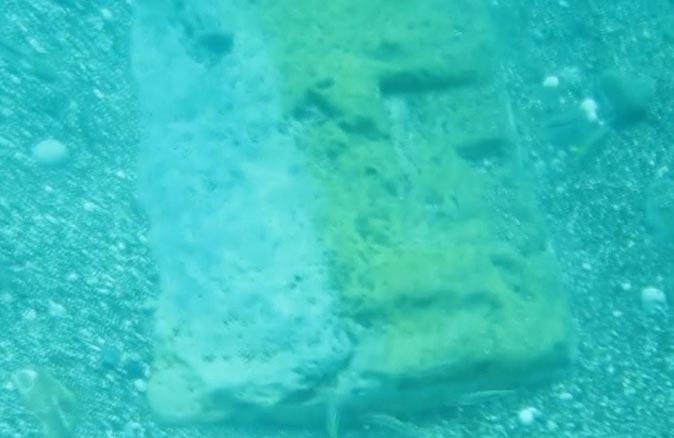 Konyaaltı Sahili'nde tarihi kapı eşiği bulundu
