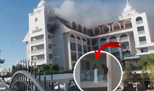 Manavgat'ta 5 yıldızlı otelin hamamında yangın