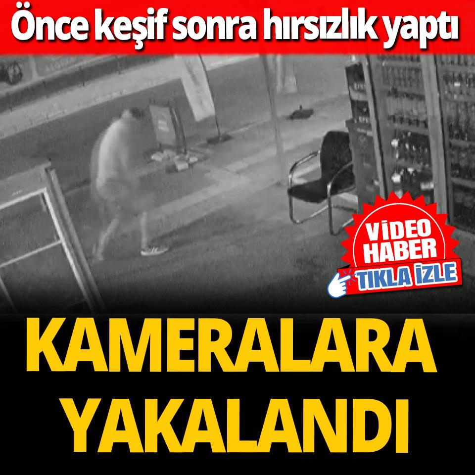 Antalya'da acemi hırsız marketçiyi bile güldürdü